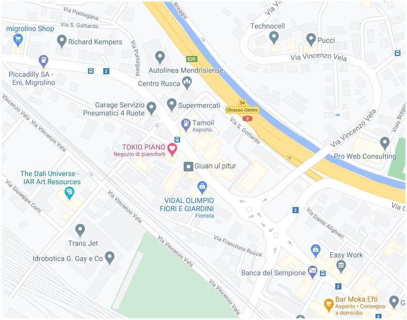 Mappa Tokio Piano
