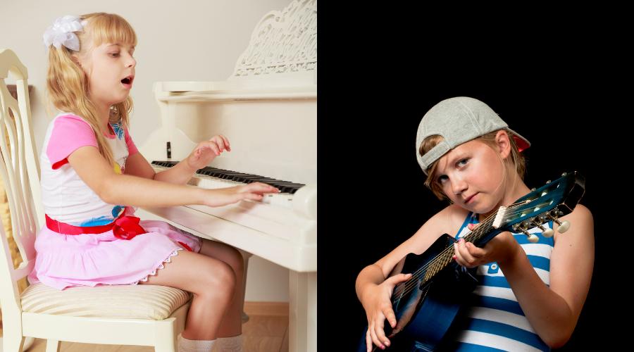 Suonare la chitarra o il pianoforte